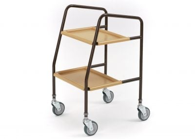 Height adjustable trolley (W/ Plastic Trays)